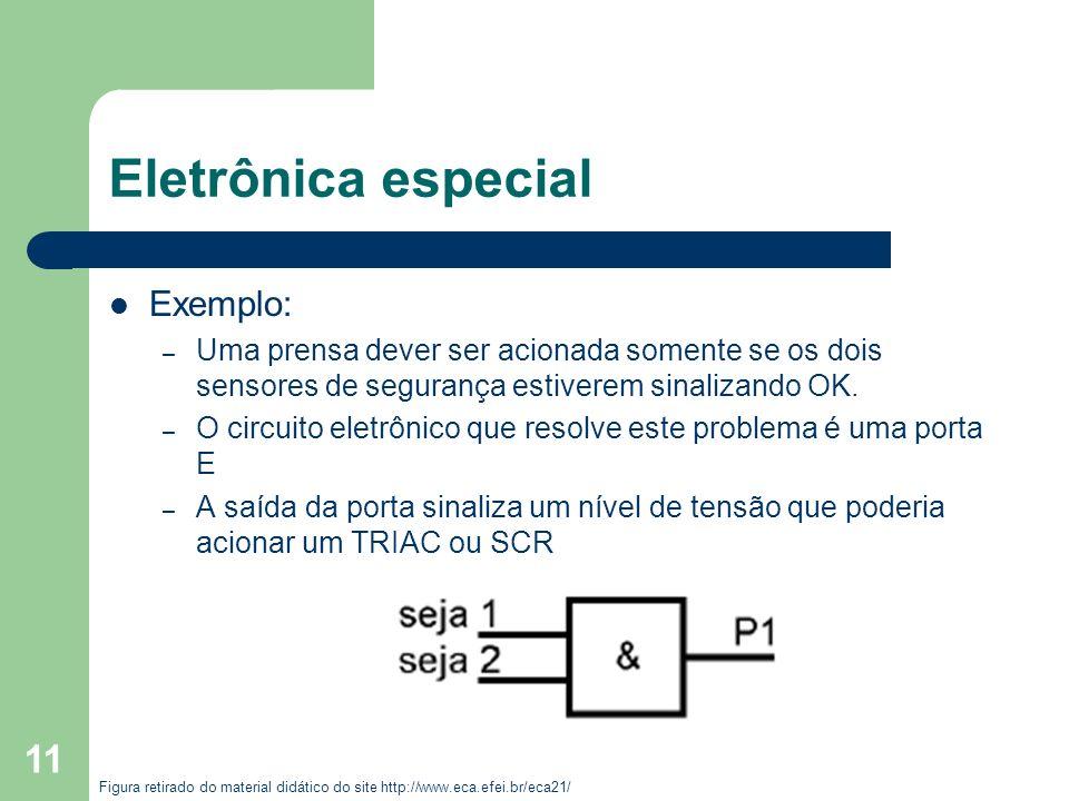 Eletrônica especial Exemplo: