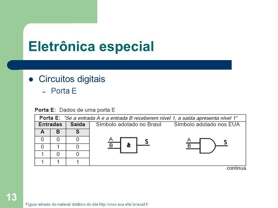 Eletrônica especial Circuitos digitais Porta E