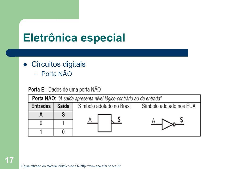 Eletrônica especial Circuitos digitais Porta NÃO