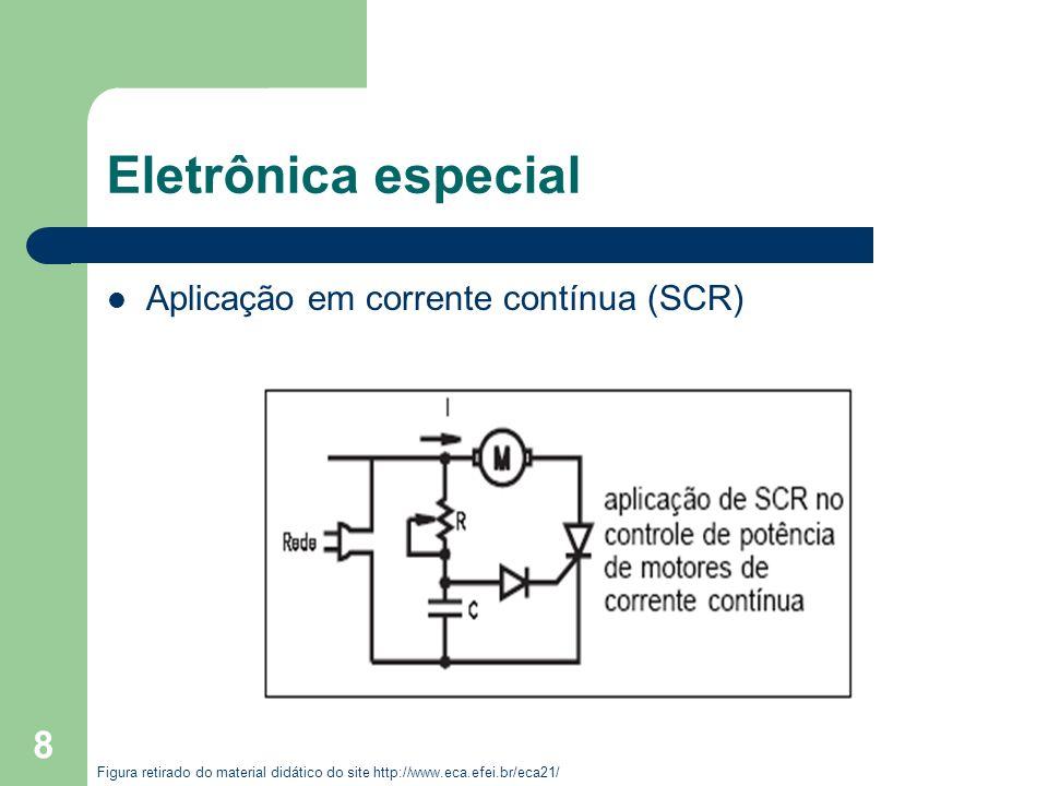 Eletrônica especial Aplicação em corrente contínua (SCR)