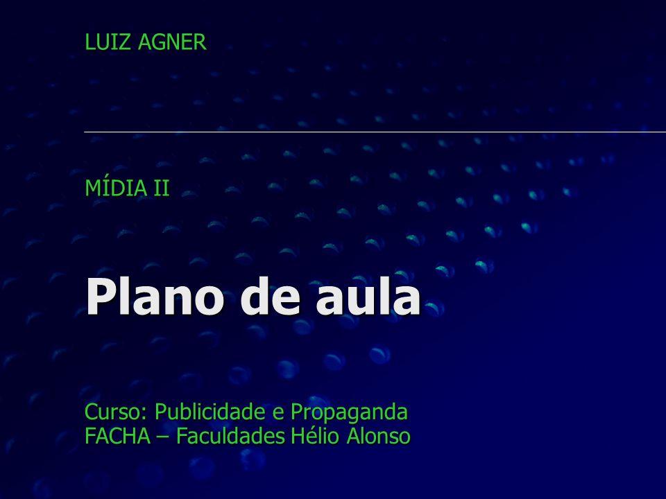 Plano de aula LUIZ AGNER MÍDIA II