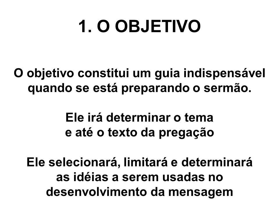 1. O OBJETIVO