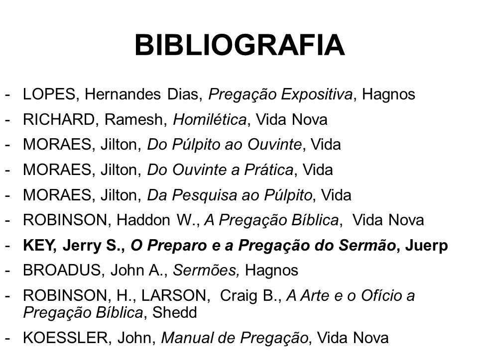BIBLIOGRAFIA LOPES, Hernandes Dias, Pregação Expositiva, Hagnos