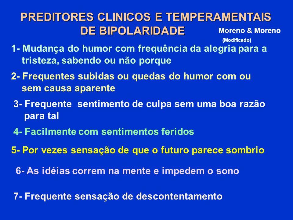 PREDITORES CLINICOS E TEMPERAMENTAIS DE BIPOLARIDADE
