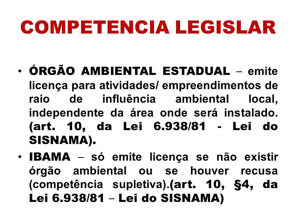 COMPETENCIA LEGISLAR
