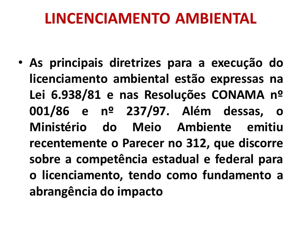 LINCENCIAMENTO AMBIENTAL