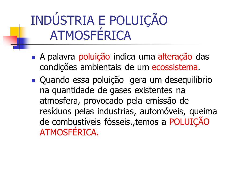 INDÚSTRIA E POLUIÇÃO ATMOSFÉRICA
