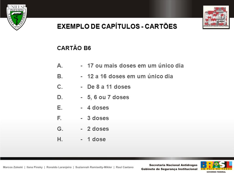 EXEMPLO DE CAPÍTULOS - CARTÕES