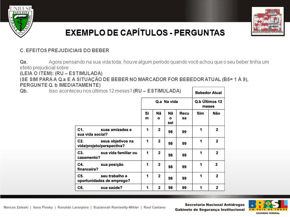 EXEMPLO DE CAPÍTULOS - PERGUNTAS