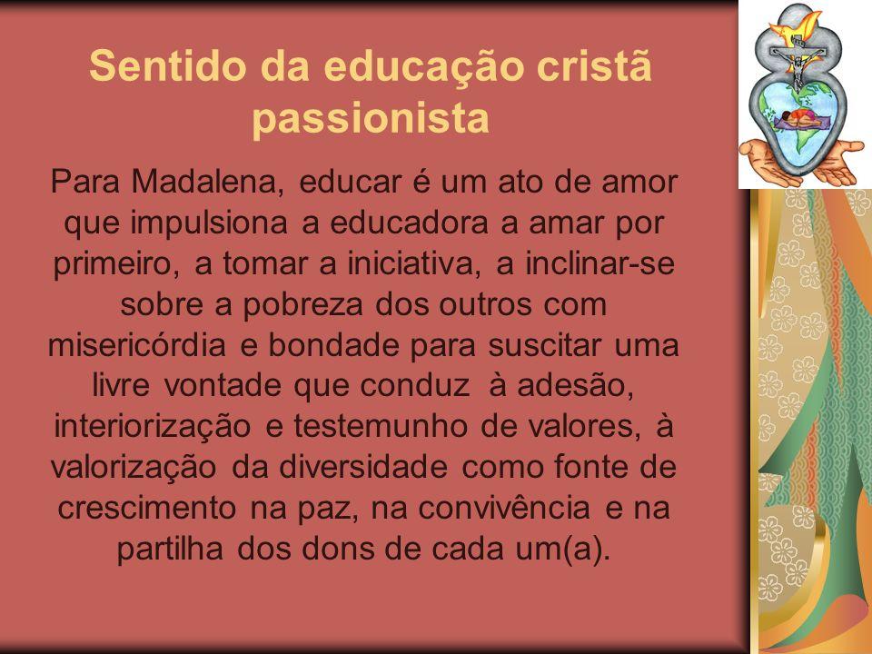 Sentido da educação cristã passionista