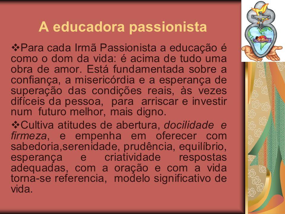 A educadora passionista