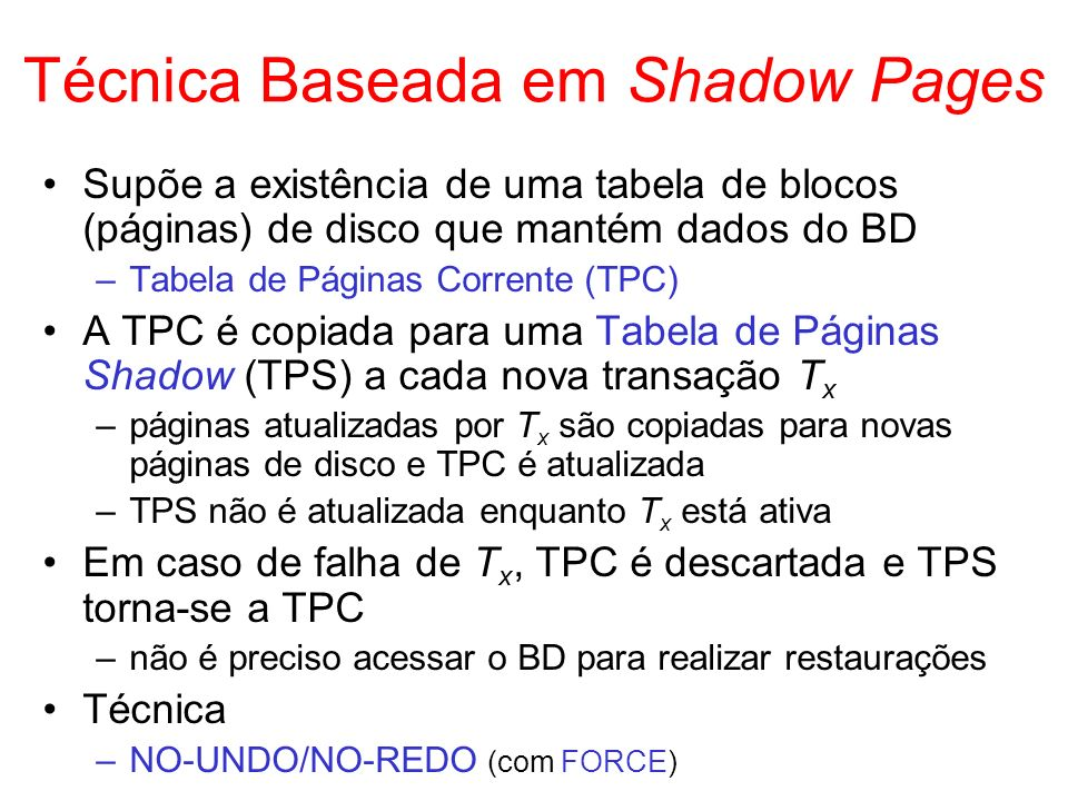 Técnica Baseada em Shadow Pages