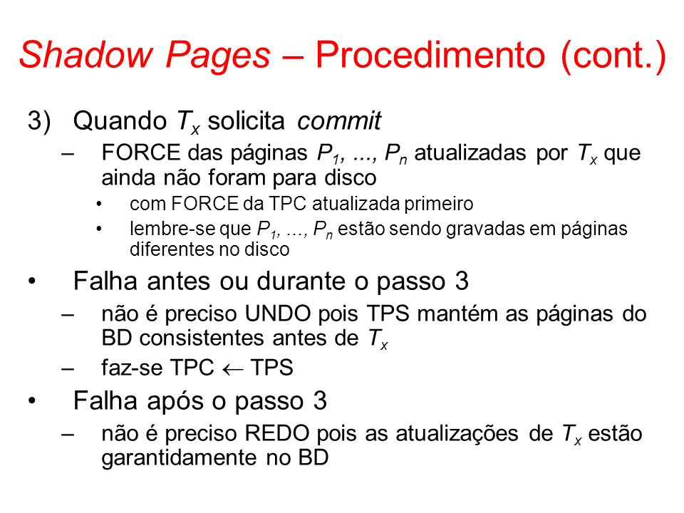 Shadow Pages – Procedimento (cont.)