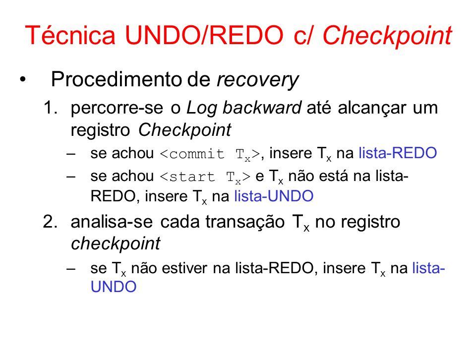 Técnica UNDO/REDO c/ Checkpoint