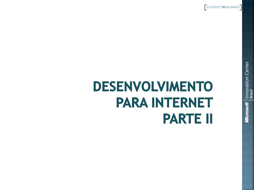 Desenvolvimento para Internet parte II