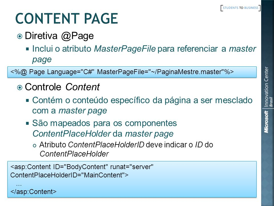 Content Page Diretiva @Page Controle Content