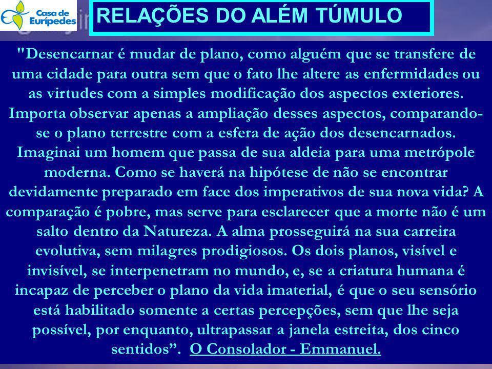 RELAÇÕES DO ALÉM TÚMULO