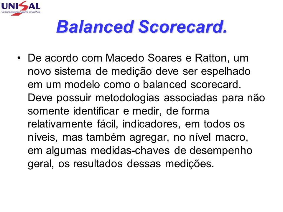 Balanced Scorecard.