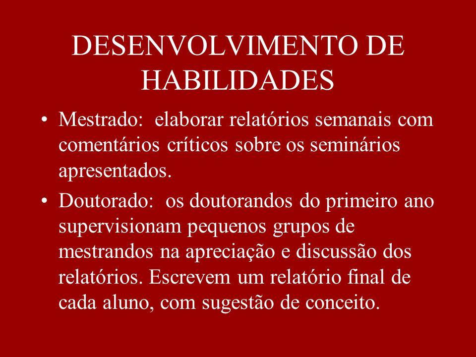 DESENVOLVIMENTO DE HABILIDADES
