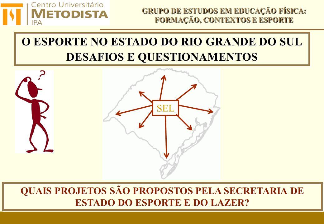 O ESPORTE NO ESTADO DO RIO GRANDE DO SUL DESAFIOS E QUESTIONAMENTOS
