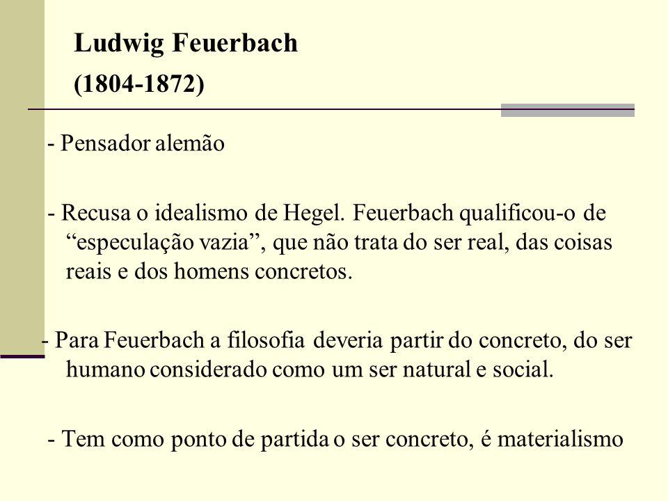 Ludwig Feuerbach (1804-1872)- Pensador alemão.