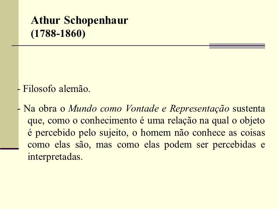 Athur Schopenhaur (1788-1860) - Filosofo alemão.