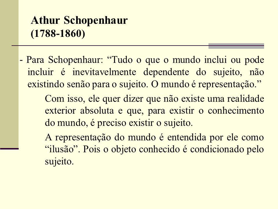 Athur Schopenhaur (1788-1860)