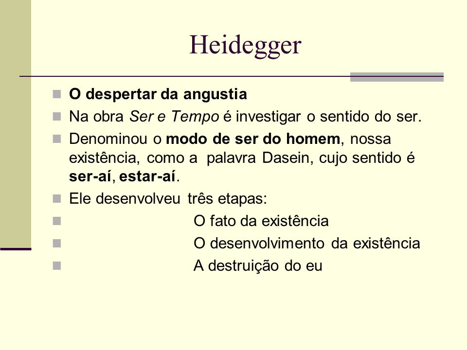 Heidegger O despertar da angustia