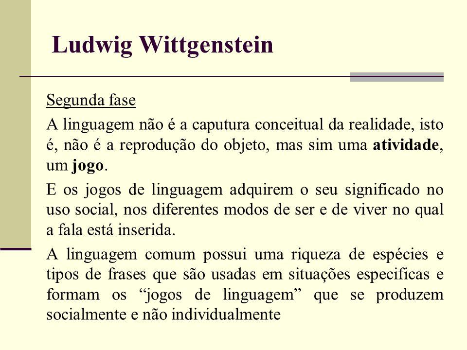 Ludwig Wittgenstein Segunda fase