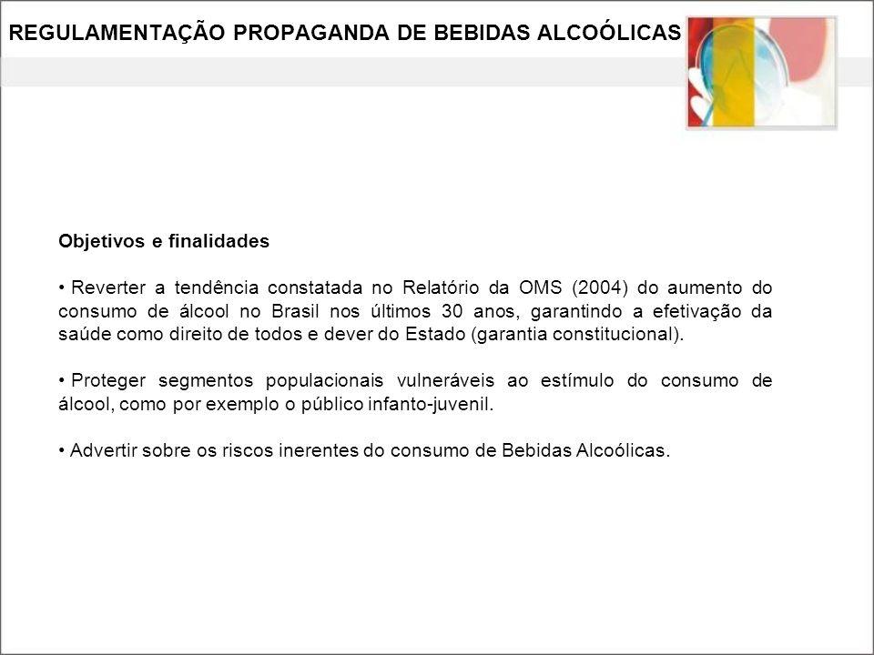 REGULAMENTAÇÃO PROPAGANDA DE BEBIDAS ALCOÓLICAS