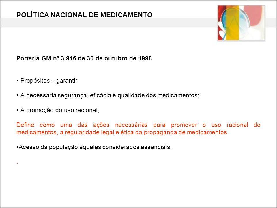 POLÍTICA NACIONAL DE MEDICAMENTO