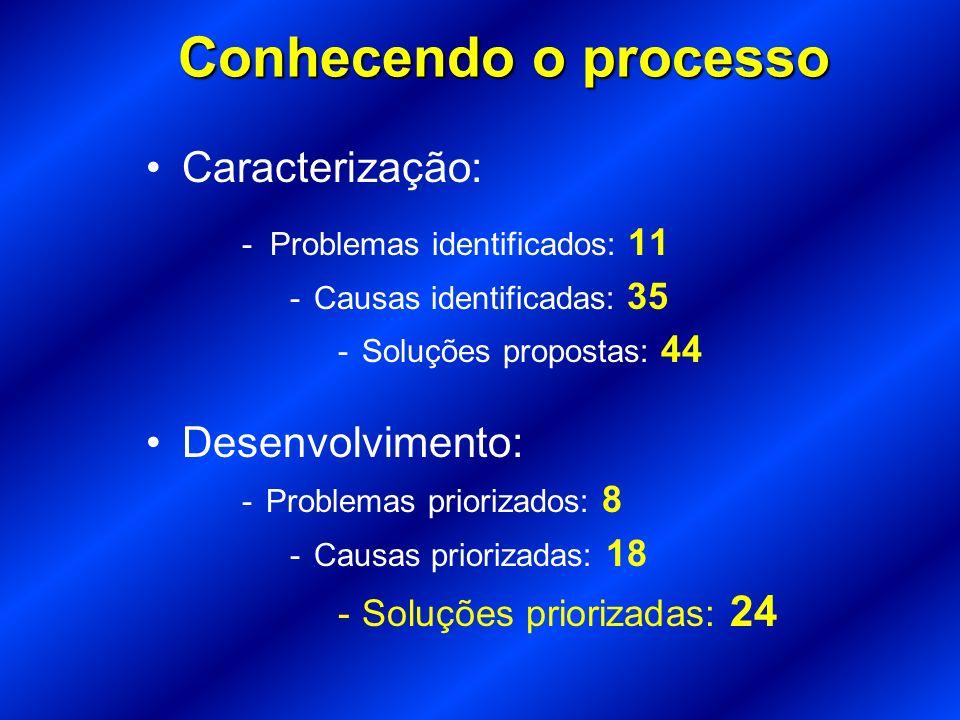 Conhecendo o processo Caracterização: Desenvolvimento: