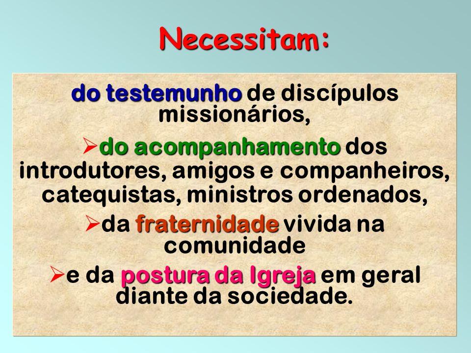 Necessitam: do testemunho de discípulos missionários,