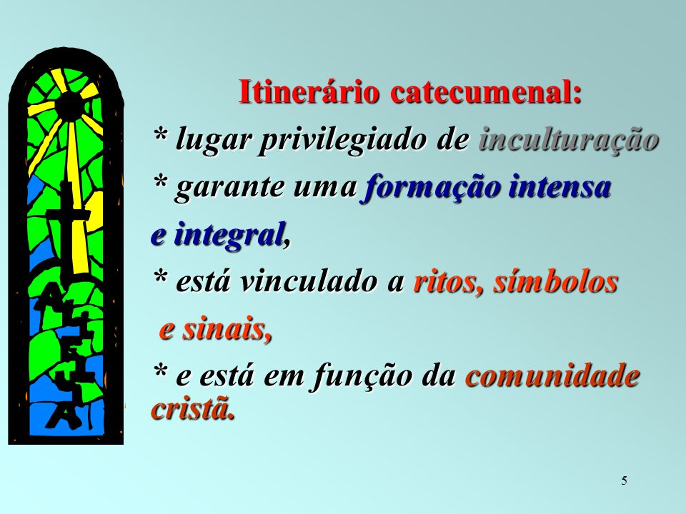 Itinerário catecumenal: