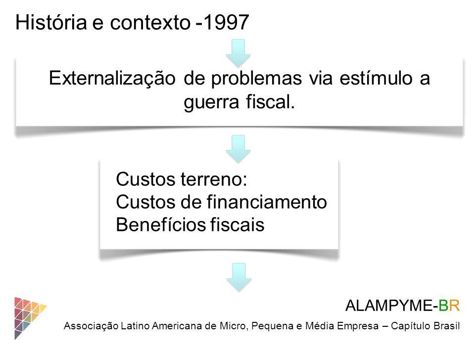 Externalização de problemas via estímulo a guerra fiscal.