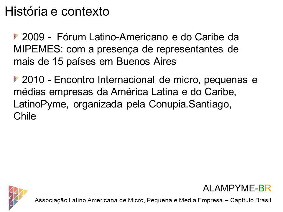 História e contexto 2009 - Fórum Latino-Americano e do Caribe da MIPEMES: com a presença de representantes de mais de 15 países em Buenos Aires.