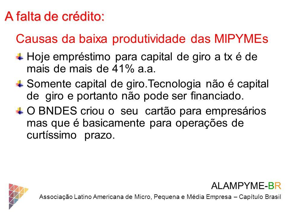 A falta de crédito: Causas da baixa produtividade das MIPYMEs