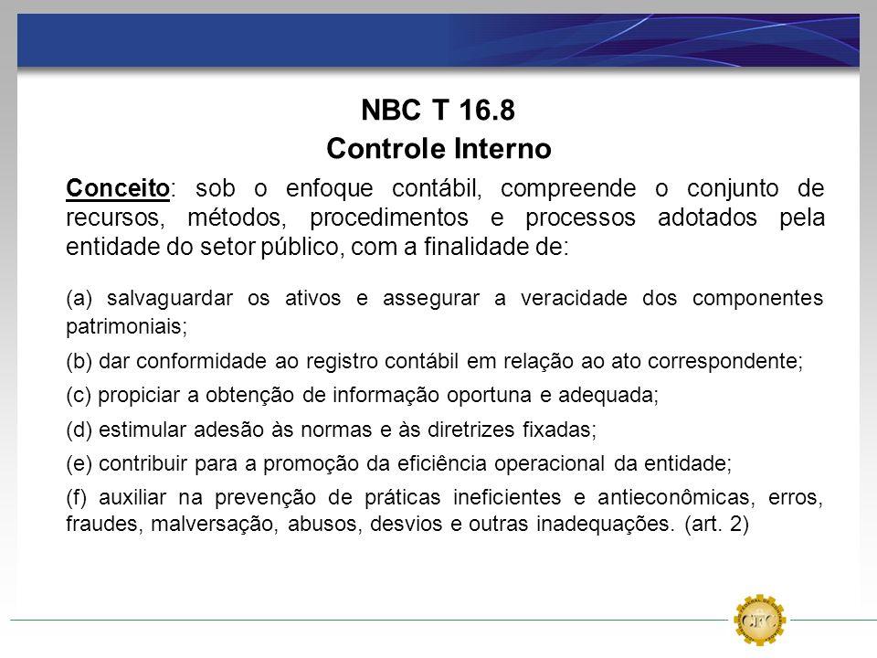 NBC T 16.8 Controle Interno.