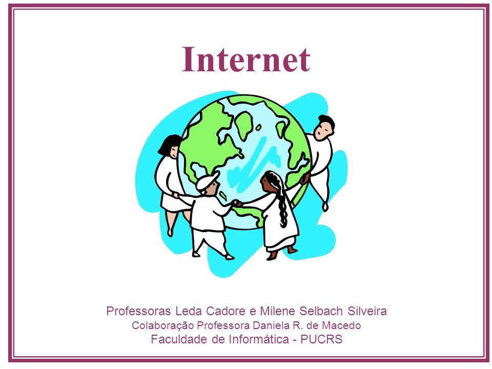 Internet Professoras Leda Cadore e Milene Selbach Silveira