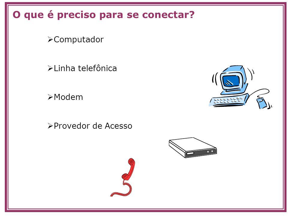 O que é preciso para se conectar