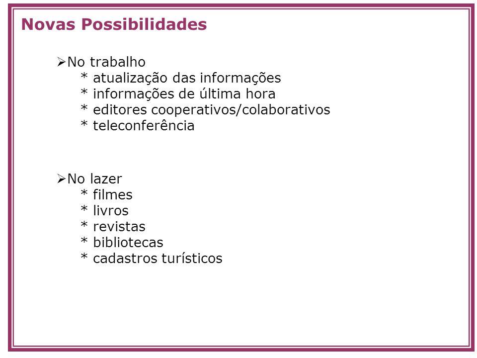 Novas Possibilidades No trabalho * atualização das informações