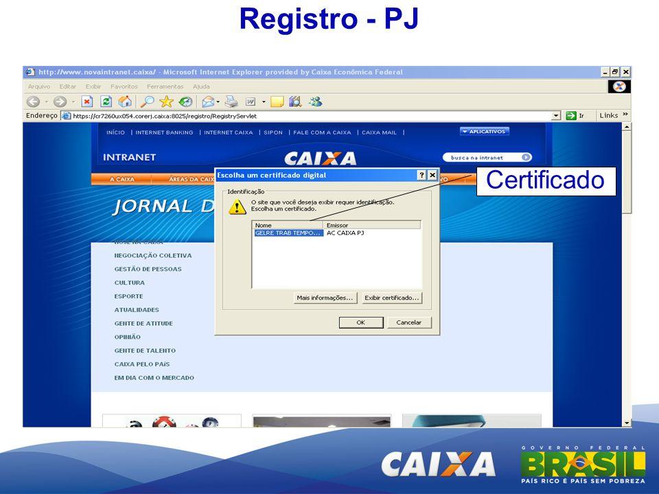 Registro - PJ Certificado