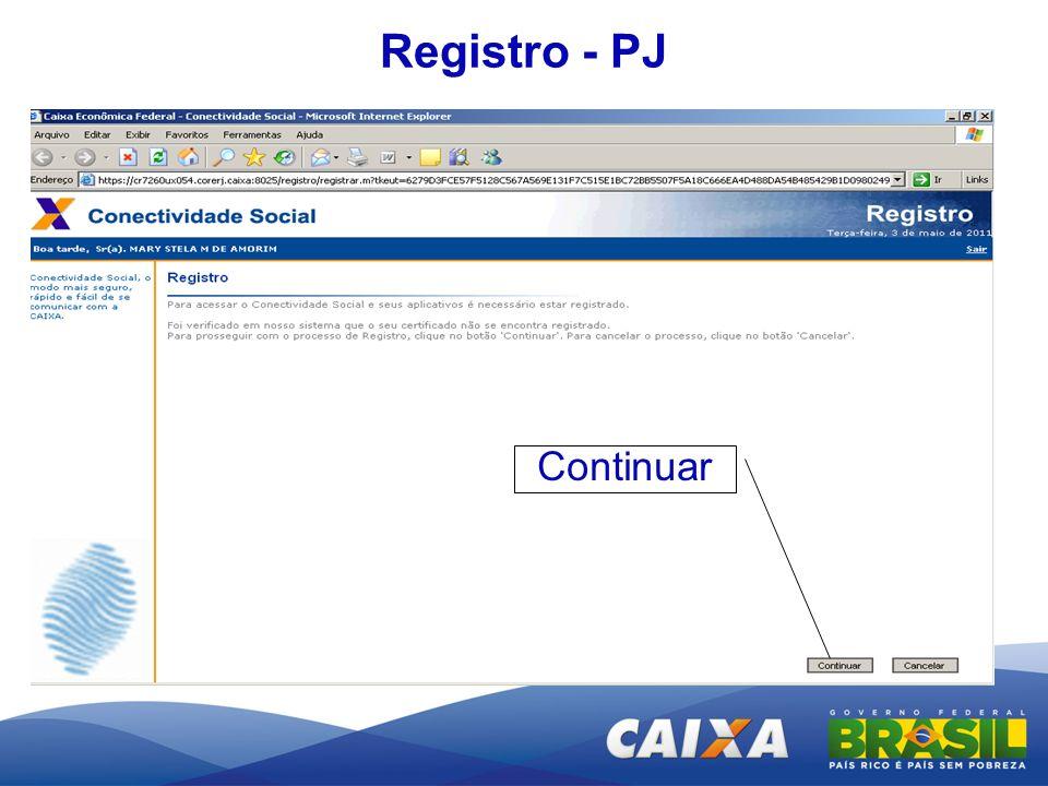 Registro - PJ Continuar