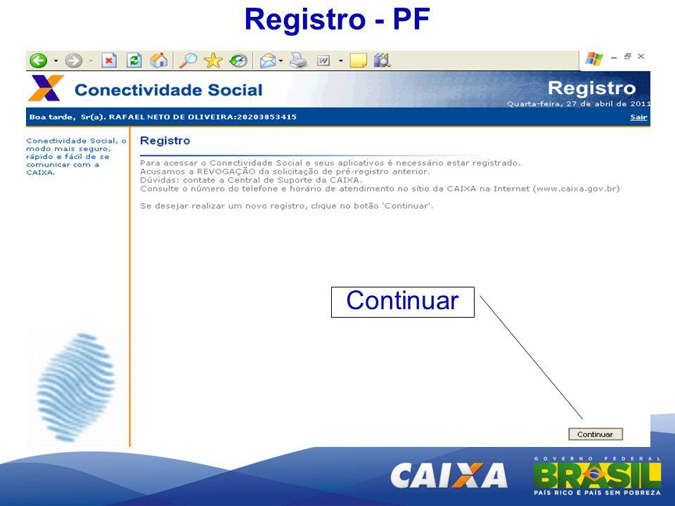 Registro - PF Continuar