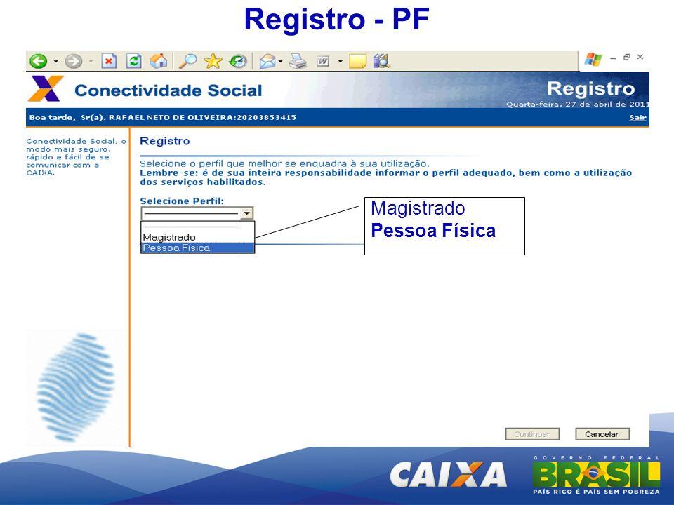 Registro - PF Magistrado Pessoa Física