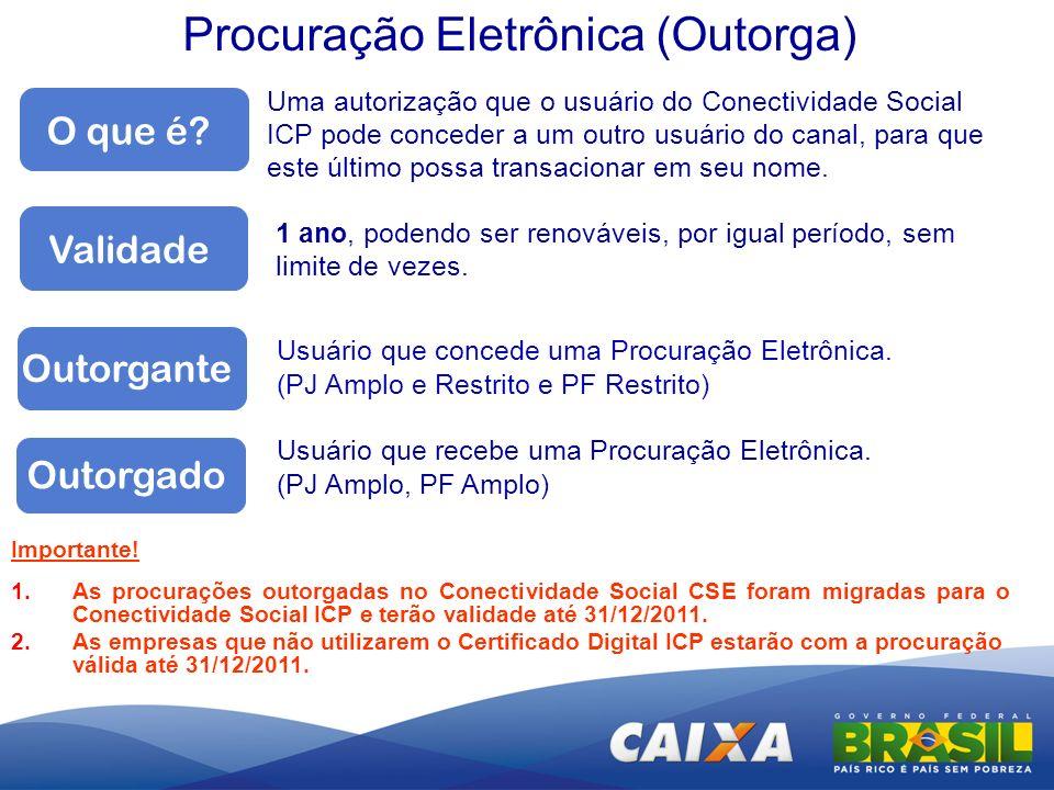 Procuração Eletrônica (Outorga)