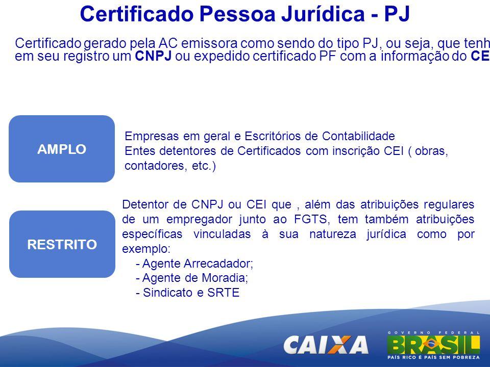 Certificado Pessoa Jurídica - PJ