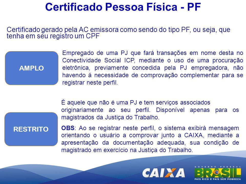 Certificado Pessoa Física - PF