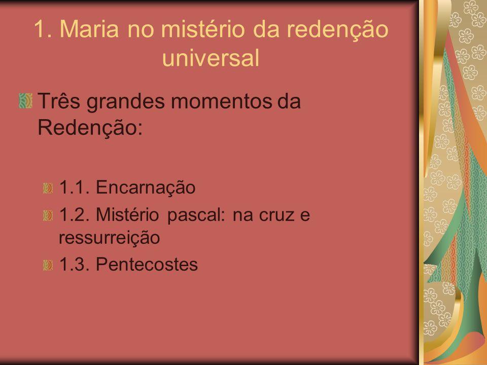 1. Maria no mistério da redenção universal