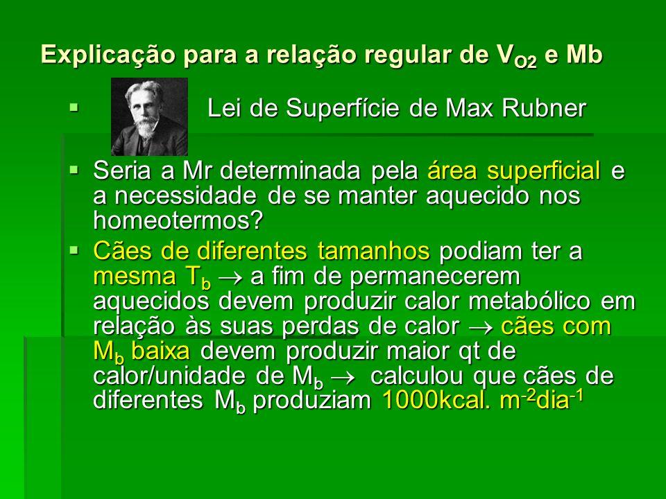 Explicação para a relação regular de VO2 e Mb